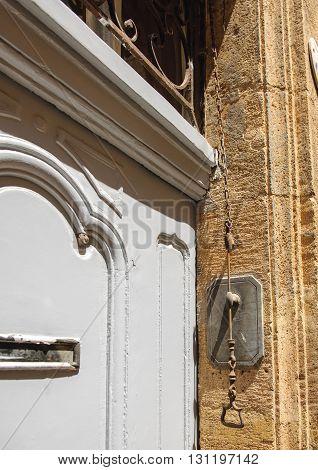 Vintage door bell seen in Provence France