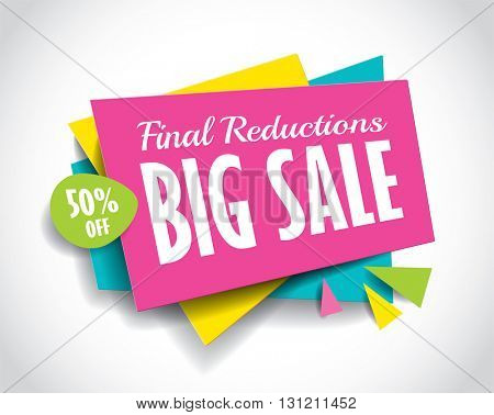 Big Sale concept vector banner. sale layout design. Vector illustration.