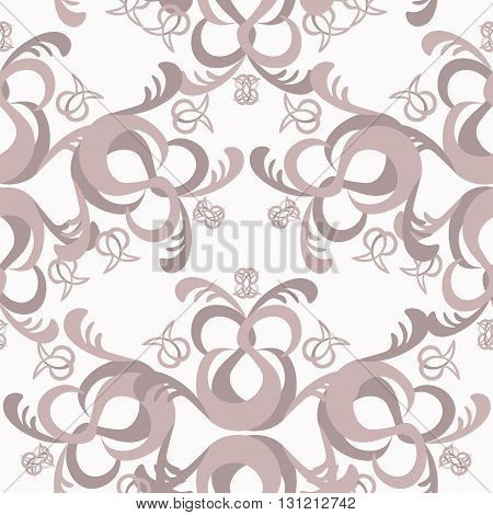 The Solemn Seamless Pattern Monochromatic Color. Vector Illustration