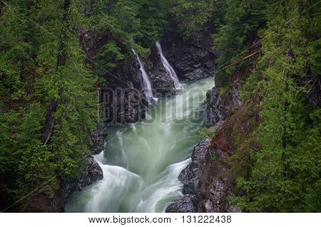 Waterfalls Gordon River Port Renfrew British Columbia Vancouver Island Canada