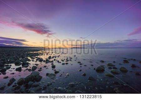 Qualicum Beach, British Columbia Sunset Vancouver Island