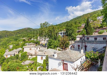 View of Pinakates village in Pelion, Greece