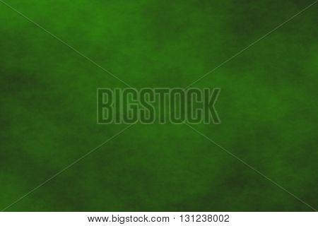 Illustration of a black background with dark green smoke