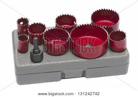 Set Crown's for drilling round holes in drywall and wood shallow DOF