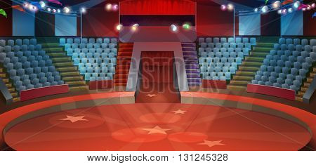 Circus arena, vector background