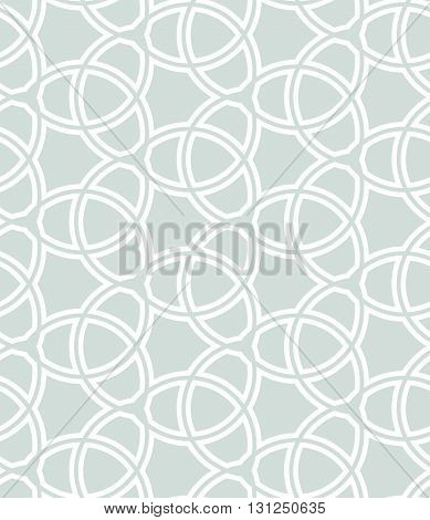 Seamless vector ornament. Modern geometric pattern with repeating elements. Light blue and white pattern