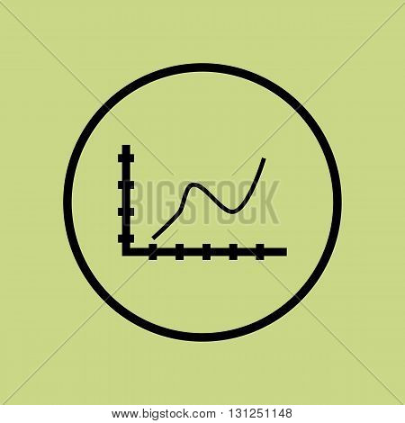 Bezier Chart Icon In Vector Format. Premium Quality Bezier Chart Symbol. Web Graphic Bezier Chart Si