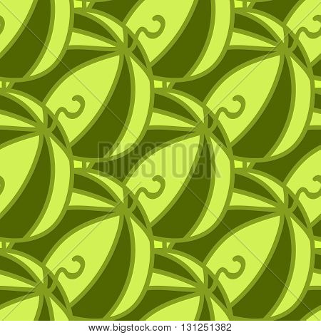 Seamless summer background. Hand drawn pattern. Suitable for fabric, greeting card, advertisement, wrapping. Bright and colorful green juicy watermelon pattern. Seamless summer or autumn background
