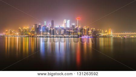 nightview of chongqing cityscape