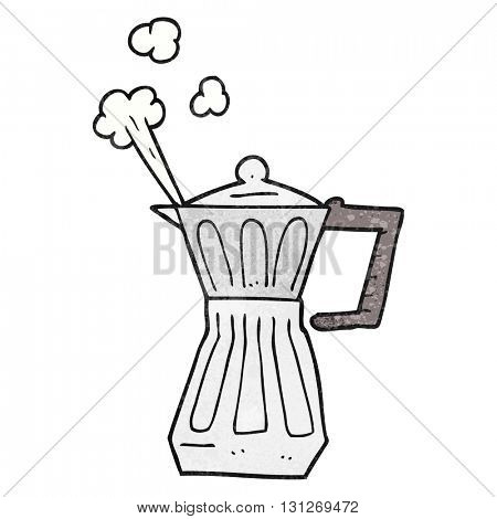 freehand textured cartoon espresso stovetop maker