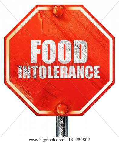 food intolerance, 3D rendering, a red stop sign