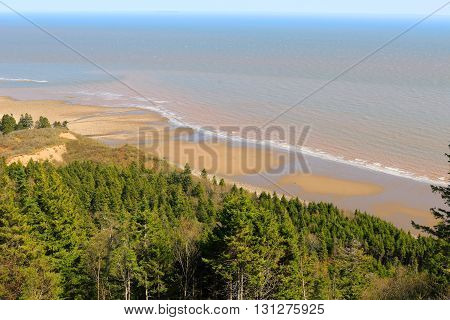 View Of Long Beach On Fundy Trail