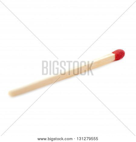 Wooden unused match isolated over the white background
