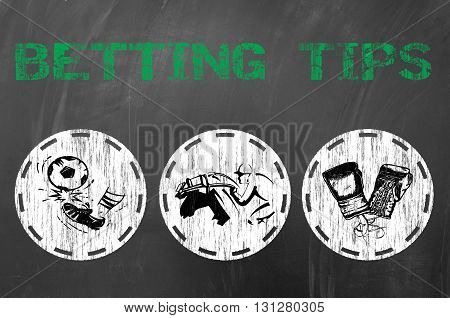Betting Tips For Online Gambling Concept