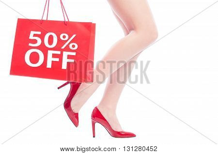 50 Off Or Fifty Percent Discount For Woman Shoes