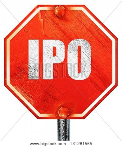 ipo, 3D rendering, a red stop sign
