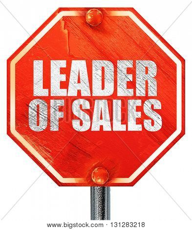 leader of sales, 3D rendering, a red stop sign