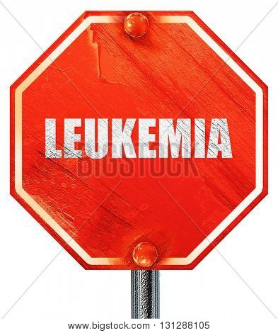 leukemia, 3D rendering, a red stop sign