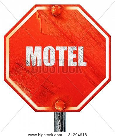 Vacancy sign for motel, 3D rendering, a red stop sign