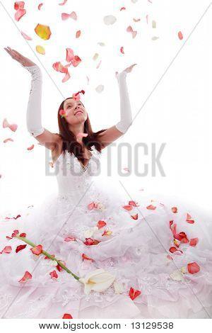 Wedding background: A woman on she wedding day