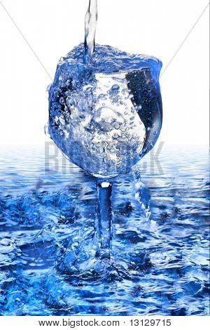Fundo de água fantásticas. Gotas, ondas, espirra.
