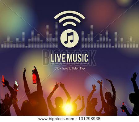 Live Music Listen Entertainment Online Concept