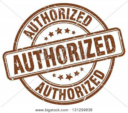 authorized brown grunge round vintage rubber stamp.authorized stamp.authorized round stamp.authorized grunge stamp.authorized.authorized vintage stamp.