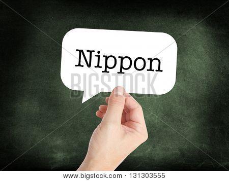 Nippon written on a speechbubble