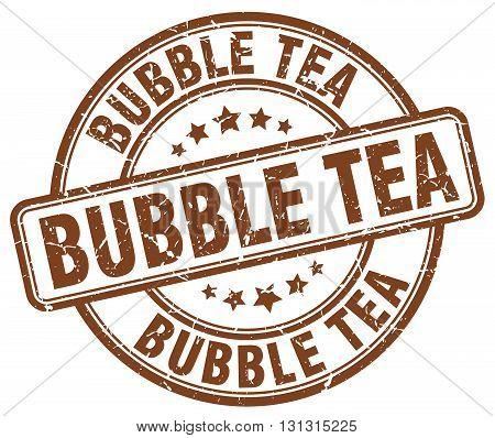 bubble tea brown grunge round vintage rubber stamp.bubble tea stamp.bubble tea round stamp.bubble tea grunge stamp.bubble tea.bubble tea vintage stamp.