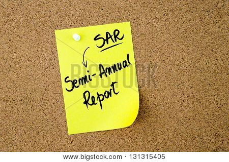 Business Acronym Sar As Semi-annual Report