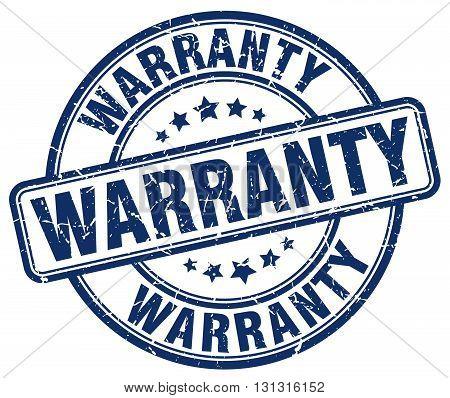 Warranty Blue Grunge Round Vintage Rubber Stamp.warranty Stamp.warranty Round Stamp.warranty Grunge