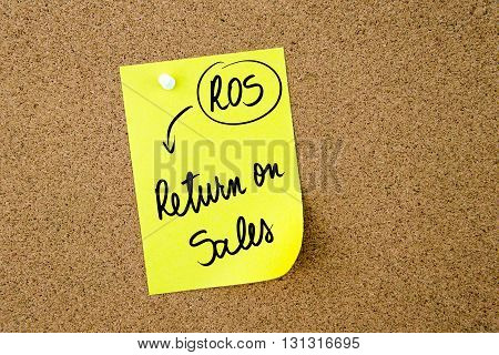 Business Acronym Ros Return On Sales