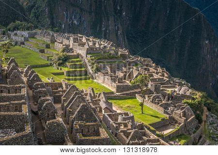 The Machu Picchu Inca ruins of Peru