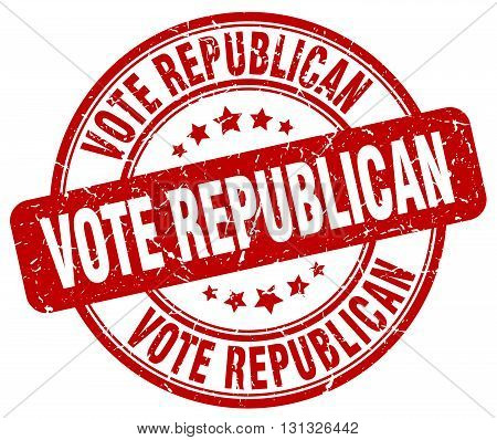 Vote Republican Red Grunge Round Vintage Rubber Stamp.vote Republican Stamp.vote Republican Round St