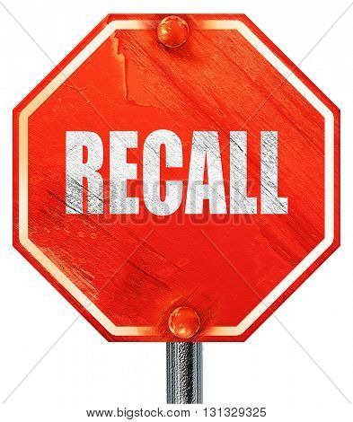 recall, 3D rendering, a red stop sign