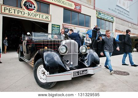 Podol, Ukraine - May 19, 2016: Maybach Zeppelin Ds 8 Roadster, Luxury Classic Car On Exhibition, Bui
