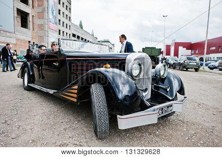 Podol, Ukraine - May 19, 2016: Maybach Zeppelin Ds 8 Roadster, Luxury Classic Car, Built In Stuttgar