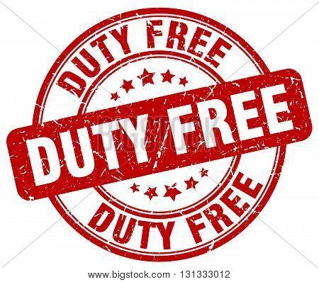 duty free red grunge round vintage rubber stamp.duty free stamp.duty free round stamp.duty free grunge stamp.duty free.duty free vintage stamp.