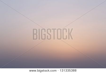 natural background: view on clear sky at sunrise