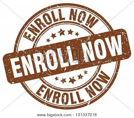 enroll now brown grunge round vintage rubber stamp.enroll now stamp.enroll now round stamp.enroll now grunge stamp.enroll now.enroll now vintage stamp.
