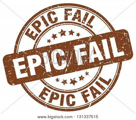 epic fail brown grunge round vintage rubber stamp.epic fail stamp.epic fail round stamp.epic fail grunge stamp.epic fail.epic fail vintage stamp.