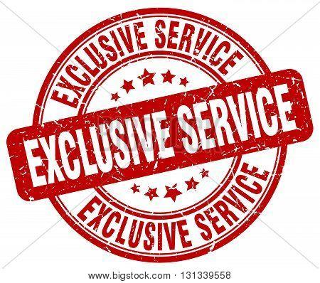 exclusive service red grunge round vintage rubber stamp.exclusive service stamp.exclusive service round stamp.exclusive service grunge stamp.exclusive service.exclusive service vintage stamp.