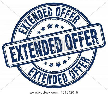 extended offer blue grunge round vintage rubber stamp.extended offer stamp.extended offer round stamp.extended offer grunge stamp.extended offer.extended offer vintage stamp.