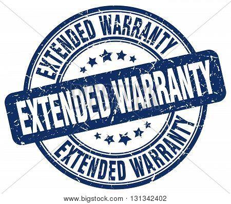 extended warranty blue grunge round vintage rubber stamp.extended warranty stamp.extended warranty round stamp.extended warranty grunge stamp.extended warranty.extended warranty vintage stamp.