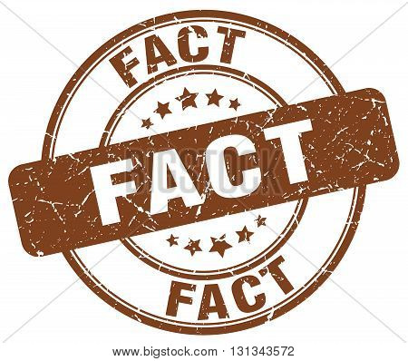 Fact Brown Grunge Round Vintage Rubber Stamp.fact Stamp.fact Round Stamp.fact Grunge Stamp.fact.fact