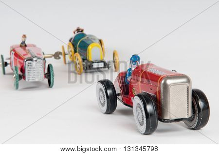 Successful Toy Car Winning The Race