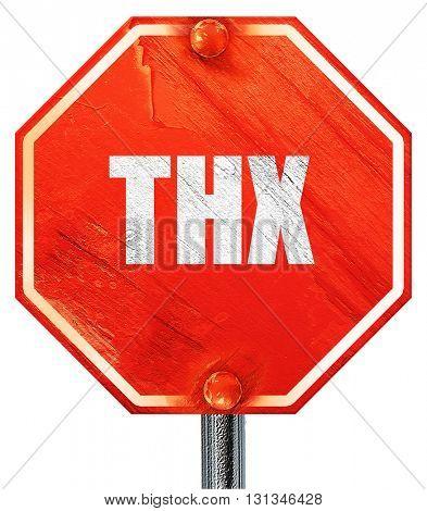 thx internet slang, 3D rendering, a red stop sign