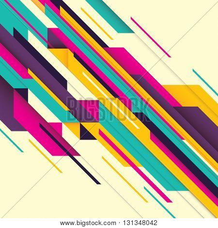 Abstract composition with geometric design. Vector illustration.