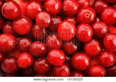 Fresh Vegetables, Fruits and other foodstuffs. Cherry background.