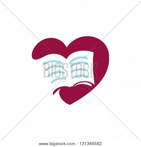Logo Symbol of Love Book Knowledge Template